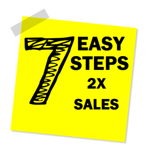7 easy steps 2 sales
